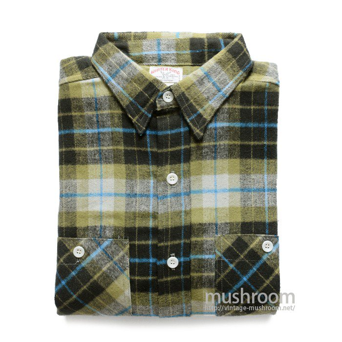 WINTER KING PLAID FLANNEL SHIRT( 17/DEADSTOCK )