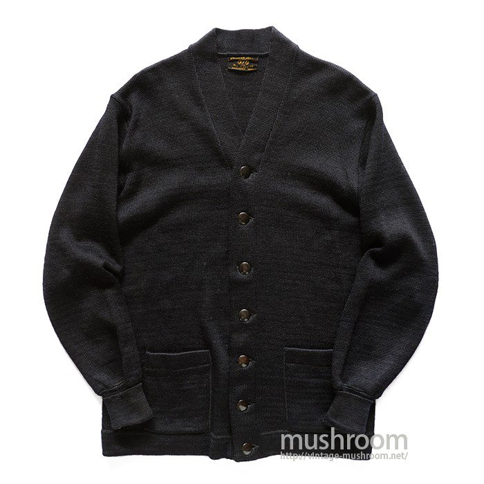 OLD BLACK KNIT JACKET( MAYBE..DEADSTOCK )