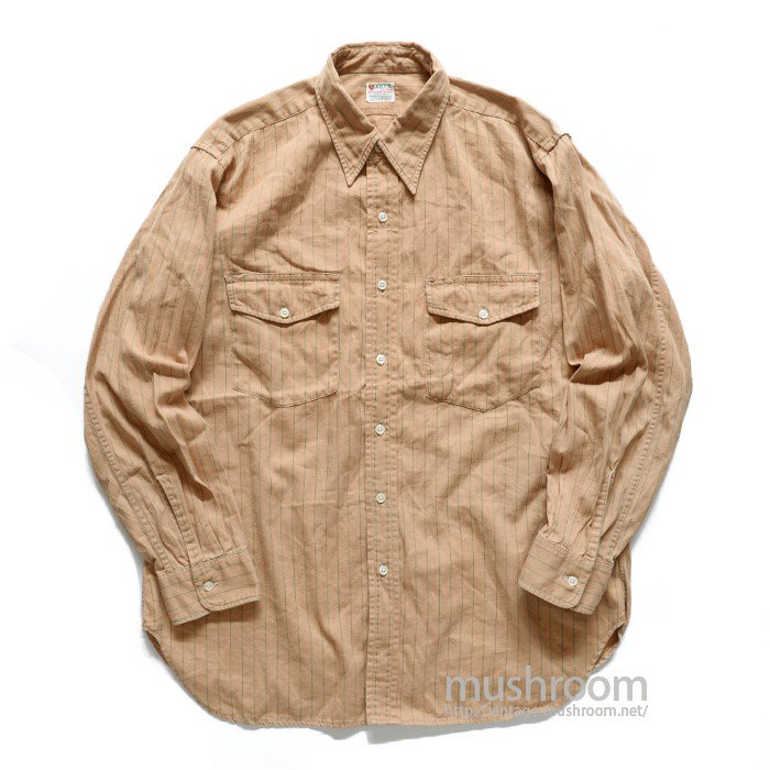 HART'S STRIPE UNIFORM WORK SHIRT