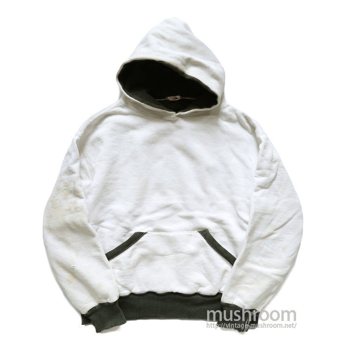 AKOM TWO-TONE SWEAT HOODY( WHITE&BLACK )