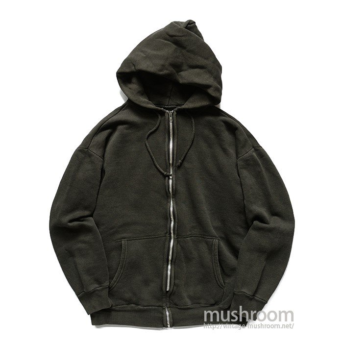 UNKNOWN FULL-ZIP BLACK COTTON SWEAT HOODY