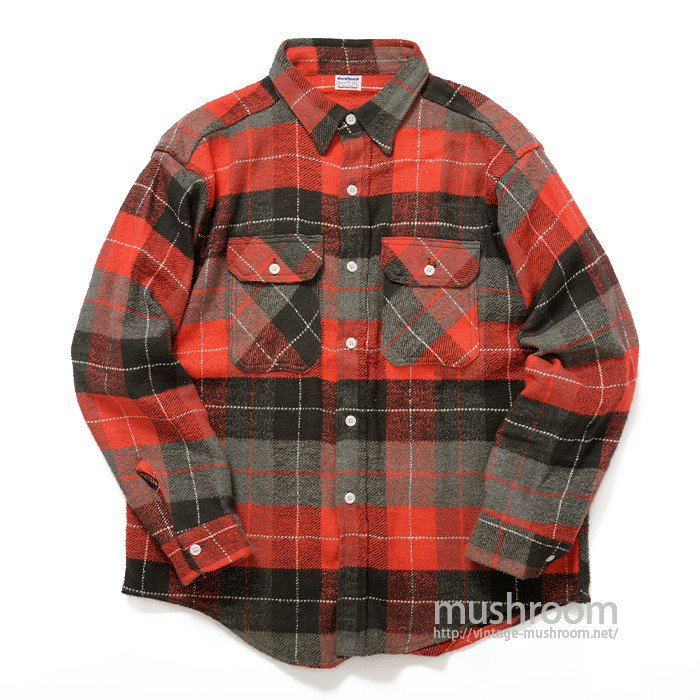 UNCLE SAM PLAID HEAVY FLANNEL SHIRT( MINT )