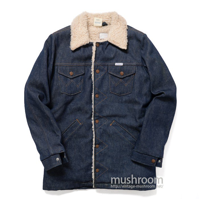 WRANGLER 989BNVR DENIM BOA JACKET( 18/MINT )