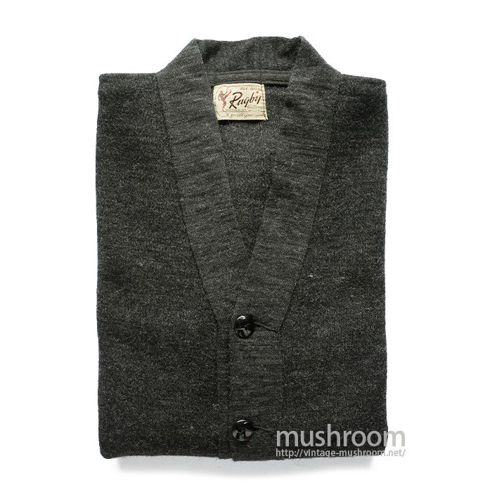 RUGBY KNITTING WORK CARDIGAN( DEADSTOCK )