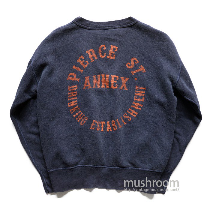 OLD SINGLE-V FLOCK PRINT SWEAT SHIRT( BACK PRINT )
