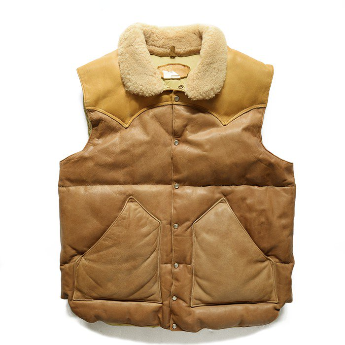ROCKY MOUNTAIN LEATHER DOWN VEST( MINT )