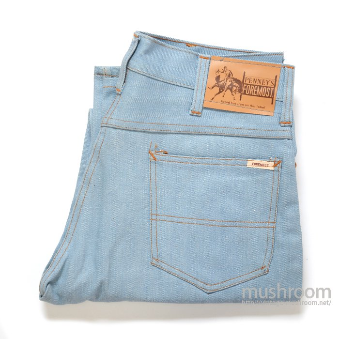 PENNEY'S FOREMOST LIGHT-BLUE JEANS( DEADSTOCK )