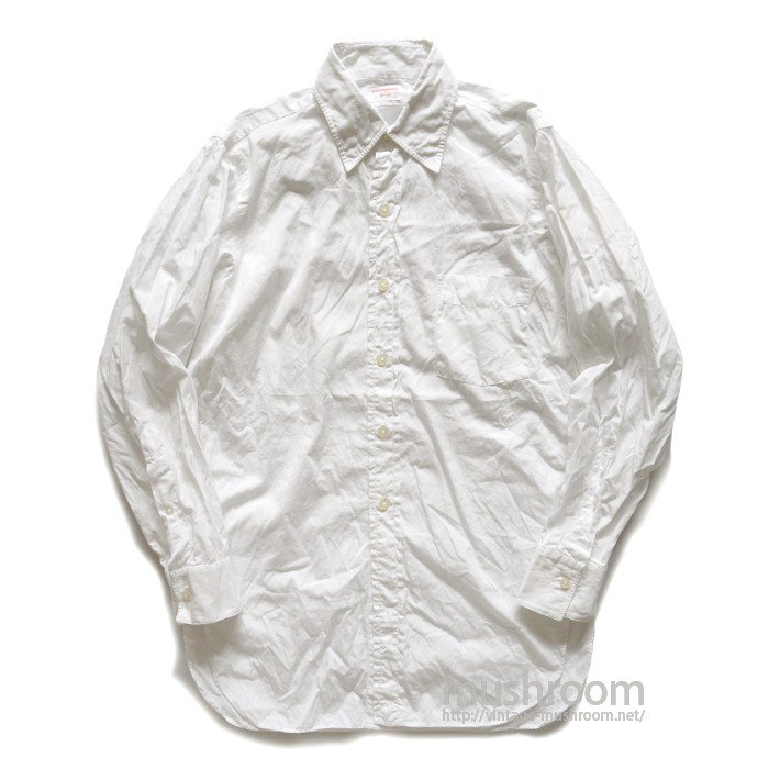 SAKS FIFTH AVE WHITE COTTON L/S SHIRT( 15/MINT )