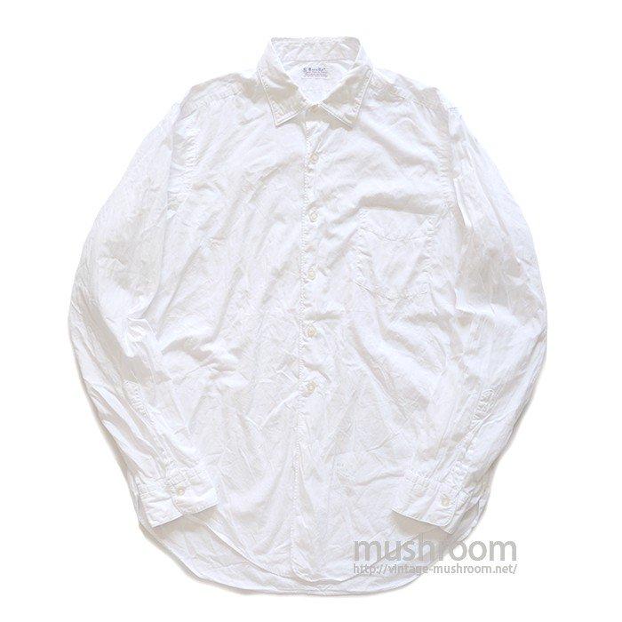 EXCELLO WHITE COTTON L/S SHIRT( 15 1/2/MINT )