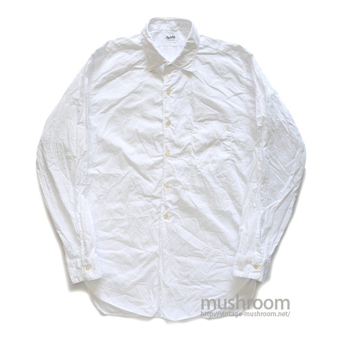 MANHATTAN WHITE COTTON L/S SHIRT( 16/MINT )
