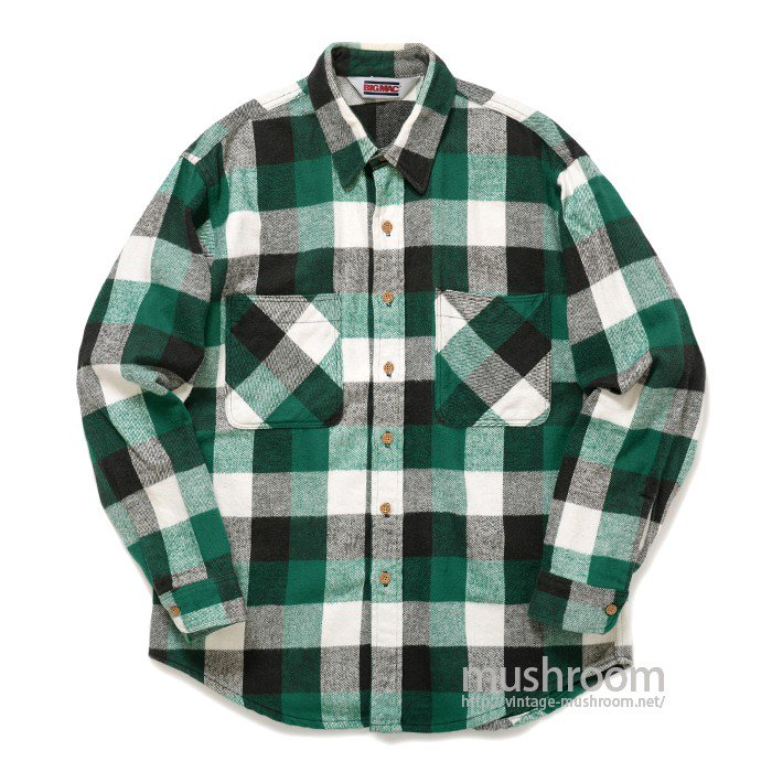 BIG MAC PLAID FLANNEL SHIRT( L/MINT )