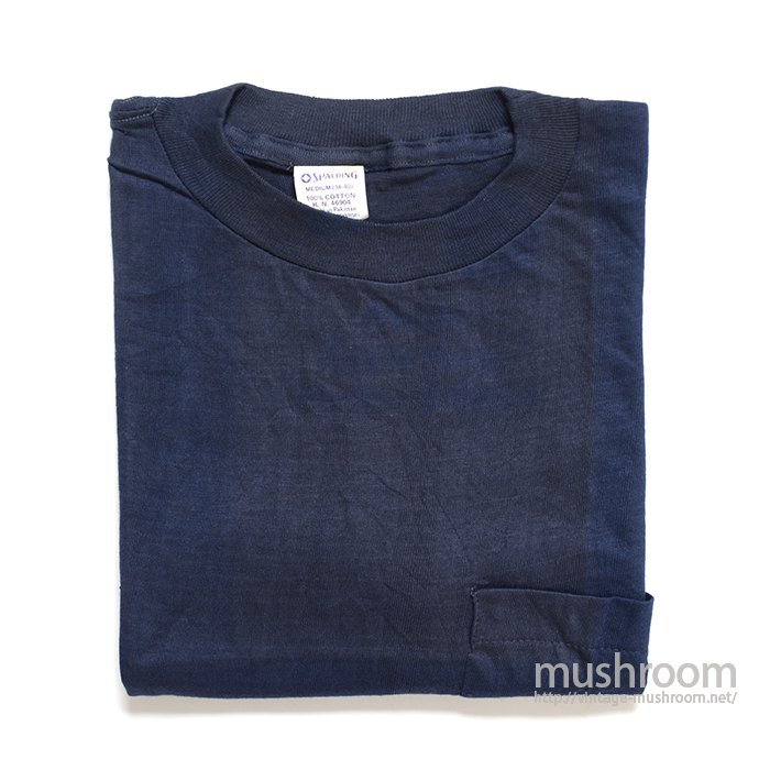 SPALDING COTTON POCKET T-SHIRT( M/DEADSTOCK )