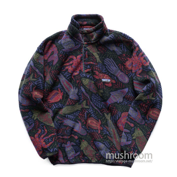 PATAGONIA SNAP-T FLEECE JACKET( FISH PATTERN )