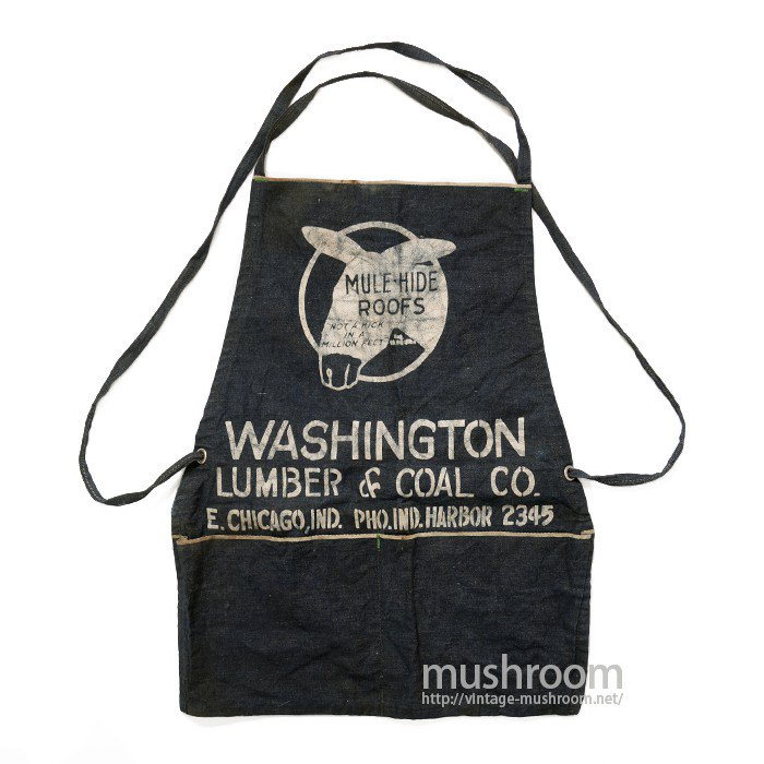MULE-HIDE ROOFS DENIM WORK APRON( DEADSTOCK )