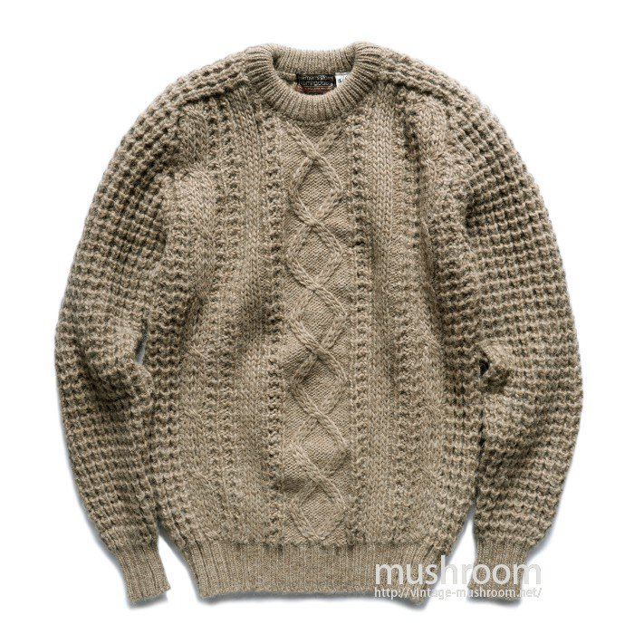OLD ARAN KNIT SWEATER( M/MINT )