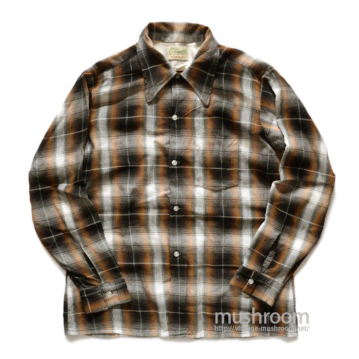 ARROW PLAID RAYON BOX SHIRT