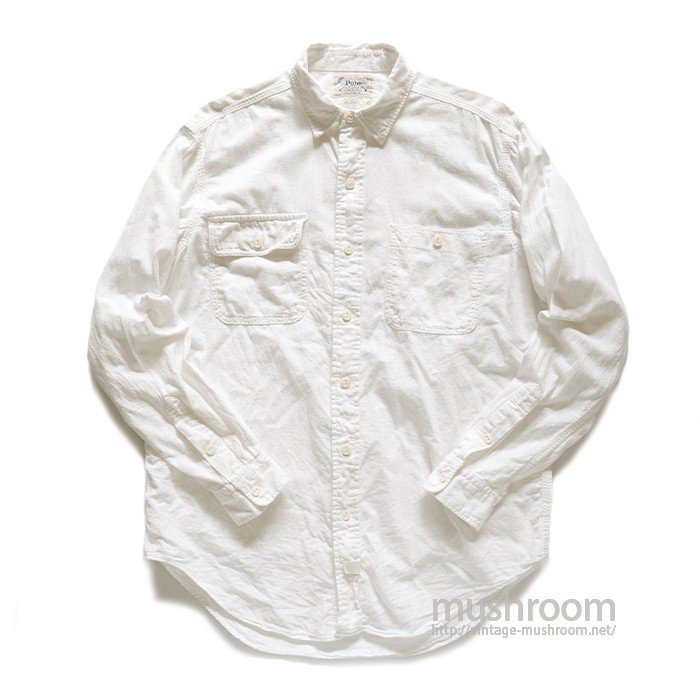 POLO WHITE COTTON WORK SHIRT
