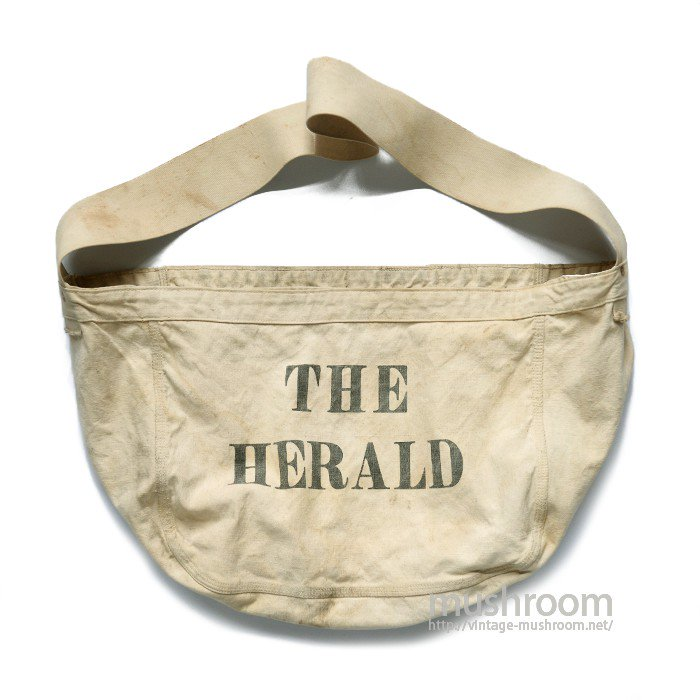 OLD NEWSPAPER CANVAS SHOULDER BAG