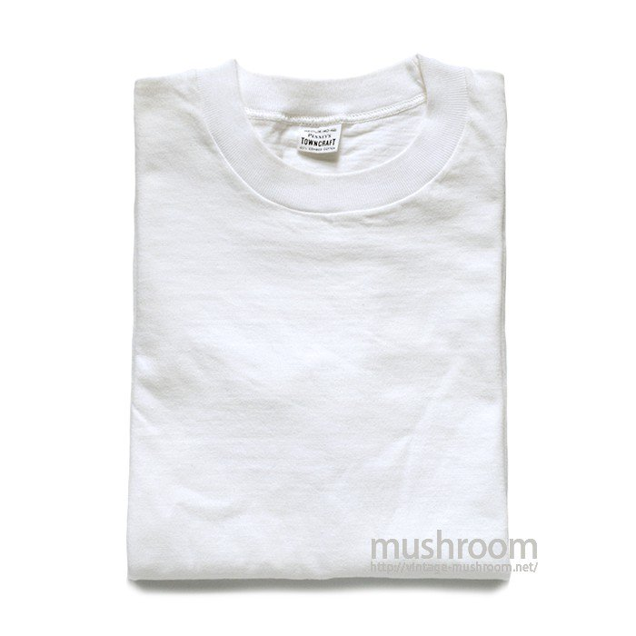 PENNEY'S TOWNCRAFT WHITE COTTON T-SHIRT( M/MINT )