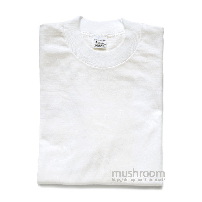 PENNEY'S TOWNCRAFT WHITE COTTON T-SHIRT( M/DEADSTOCK )