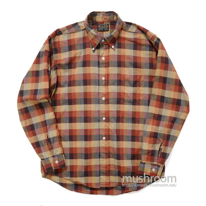 CAREER CLUB PLAID COTTON L/S BD SHIRT( MINT )