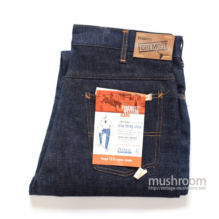 PENNEY'S FOREMOST 5POCKET JEANS( DEADSTOCK )