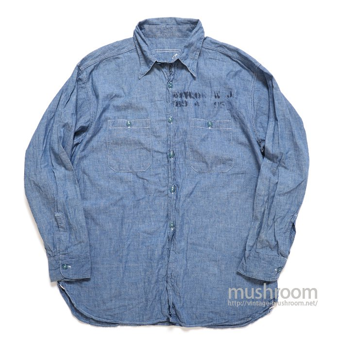 U.S.NAVY CHAMBRAY SHIRT WITH STENCIL( 17/MINT )