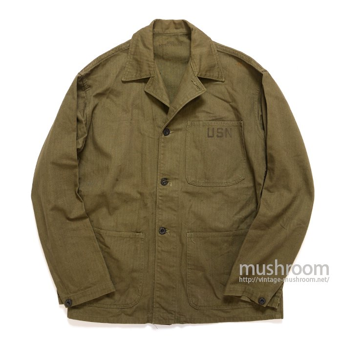 WW2 U.S.NAVY HBT UTILITY JACKET( 36R/MINT )