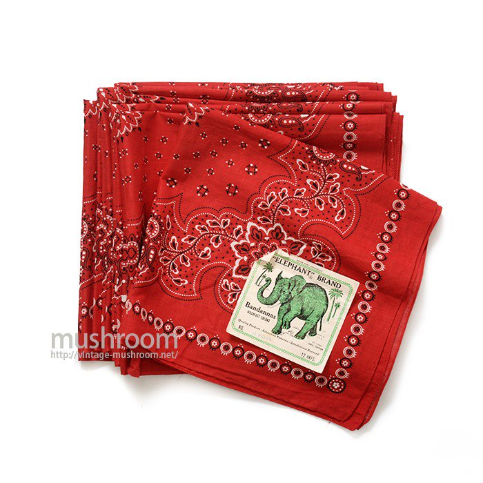 ELEPHANT BRAND COTTON BANDANA( DEADSTOCK )