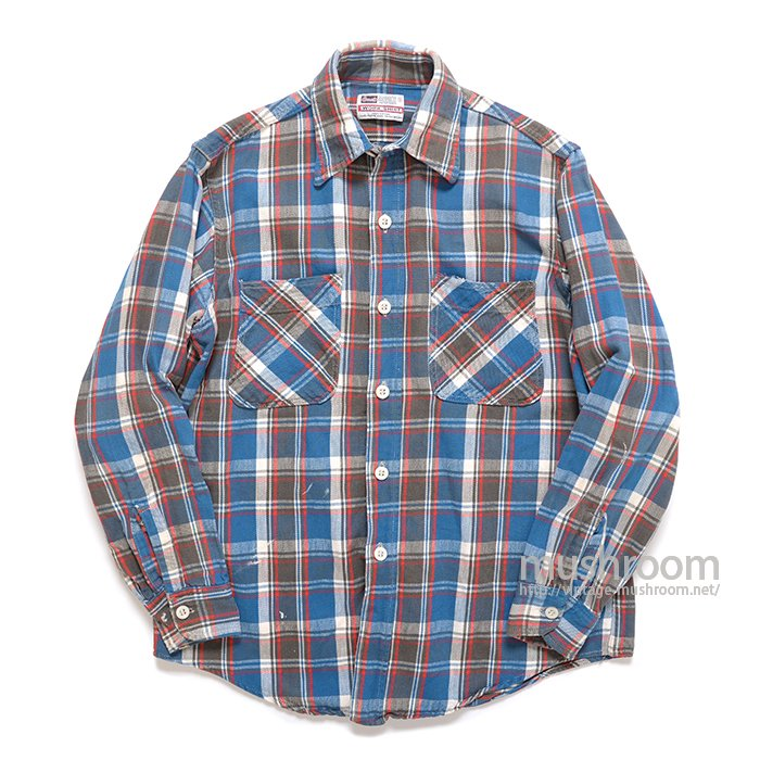 GRANTS PLAID FLANNEL WORK SHIRT