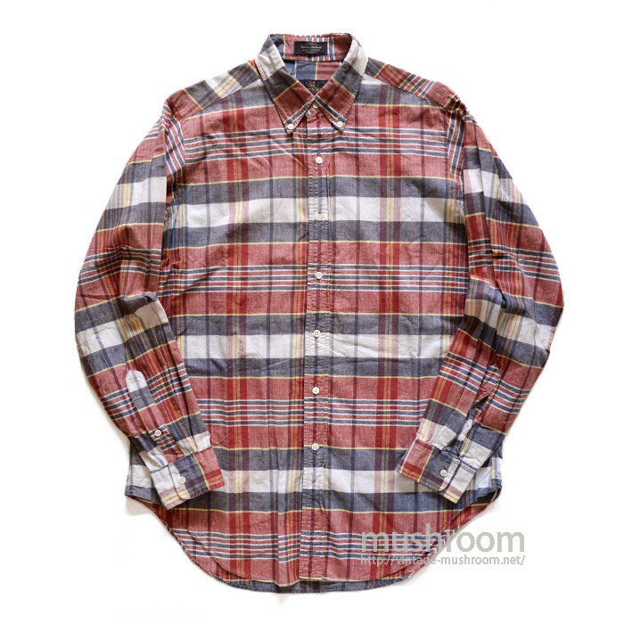 KENNETHGORDON PLAID MADRAS BD SHIRT