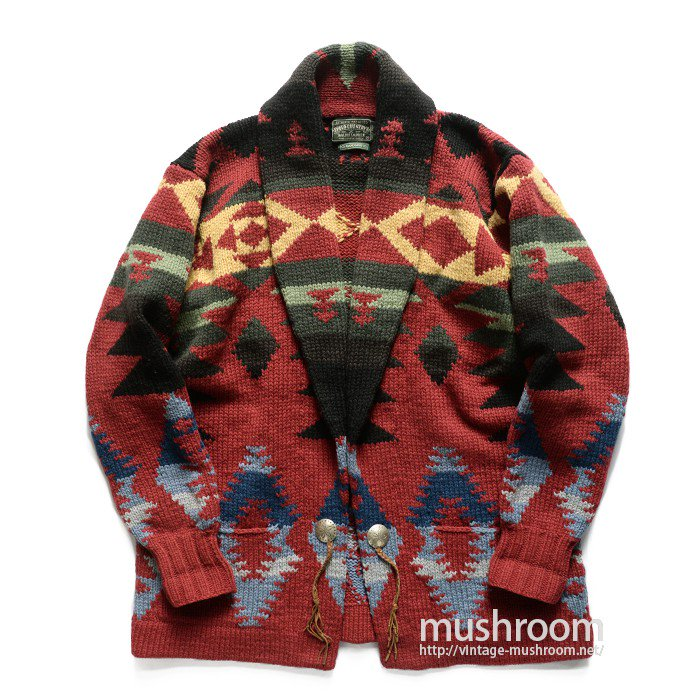 POLO COUNTRY NATIVE HAND-KNIT CARDIGAN( M/MINT )