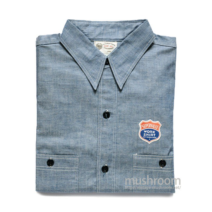 IDEAL CHAMBRAY WORK SHIRT( 15 1/2/DEADSTOCK )