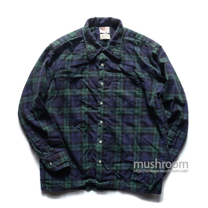 L.L.BEAN PLAID BOX SHIRT