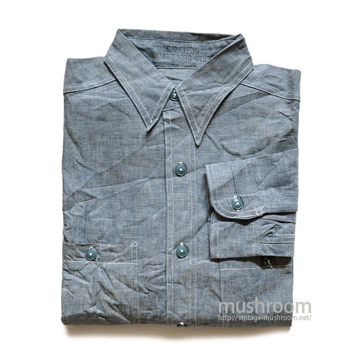 U.S.NAVY CHAMBRAY SHIRT( 15 1/2/DEADSTOCK )