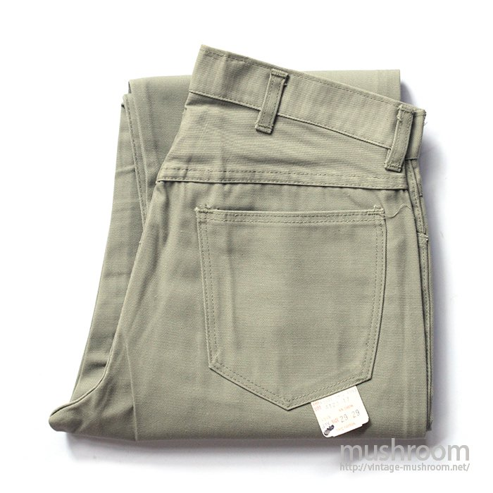 UNKNOWN TAPERED COTTON PANTS( W29L29/DEADSTOCK )