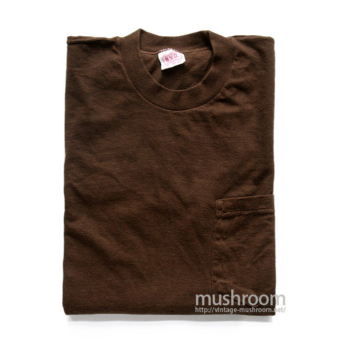 BVD BROWN COTTON POCKET T-SHIRT
