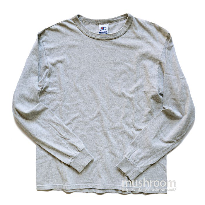 CHAMPION PLAIN LONG SLEEVE T-SHIRT