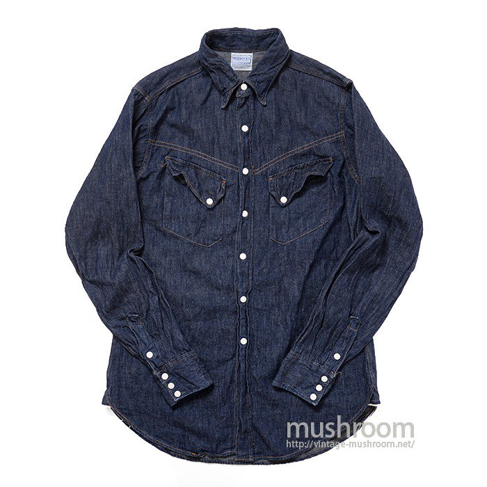 ROEBUCKS DENIM WESTERN SHIRT( ONE WASHED )