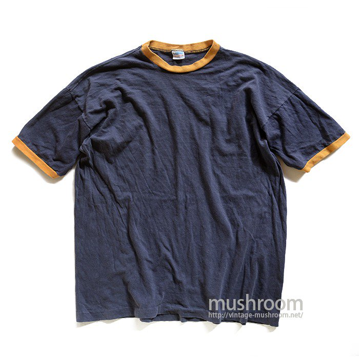 CHAMPION NAVY AND YELLOW RINGER TEE