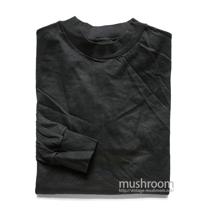 HANES BLACK LONG-SLEEVE TEE( M/DEADSTOCK )