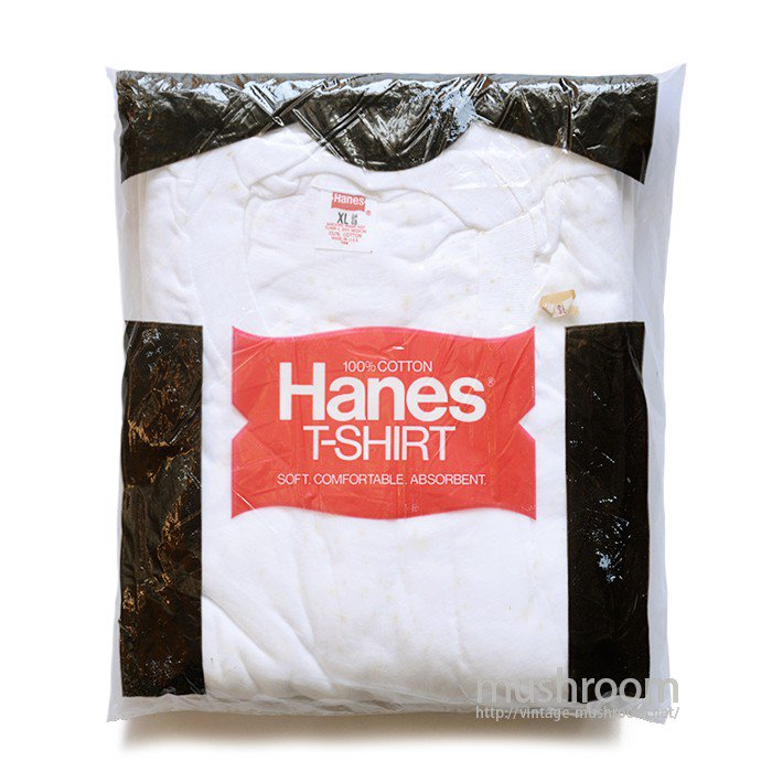 HANES ALL COTTON  PLAIN T-SHIRT( XL/DEADSTOCK )