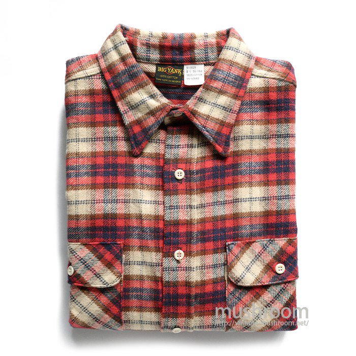 BIG YANK PLAID FLANNEL SHIRT( L/DEADSTOCK )