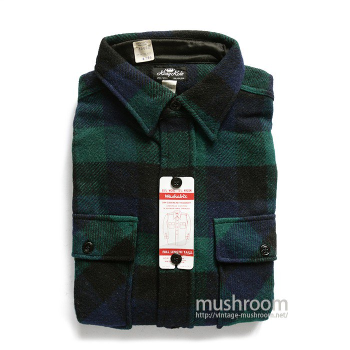 KING KOLE PLAID WOOL SHIRT( 16 1/2/DEADSTOCK )
