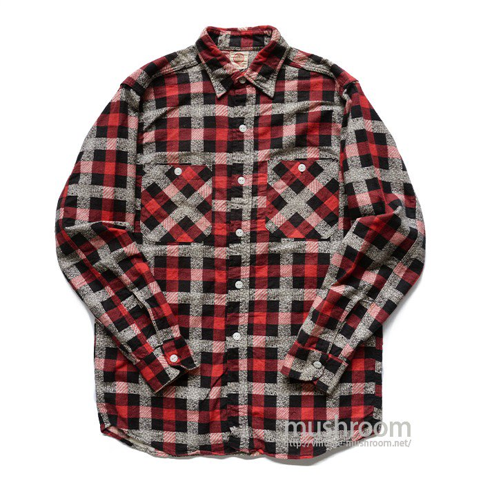 MAYES PLAID PRINT FLANNEL SHIRT( MINT )