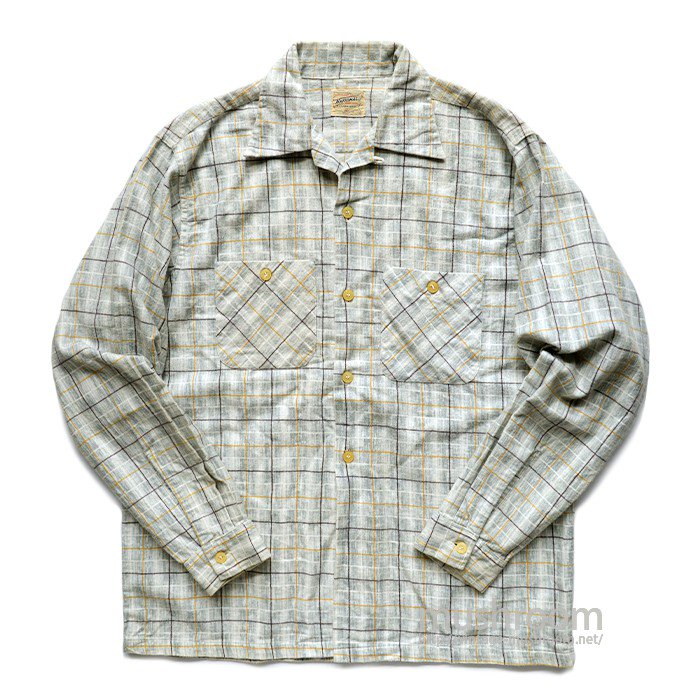 NATIONAL PLAID PRINT FLANNEL SHIRT( M/MINT )