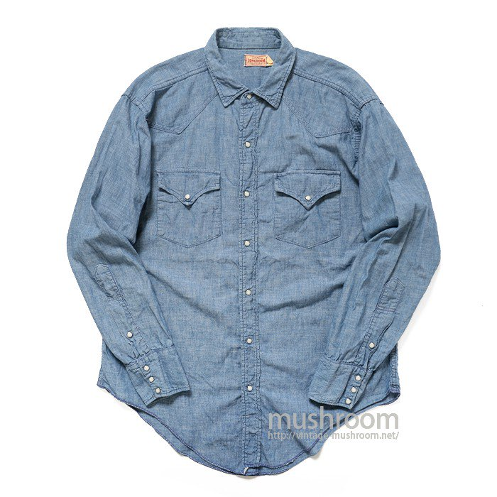 LONGHORN CHAMBRAY WESTERN SHIRT