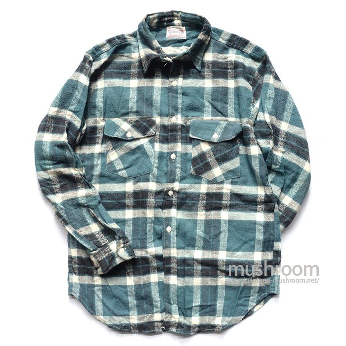 POINCREST PLAID FLANNEL SHIRT( MINT )
