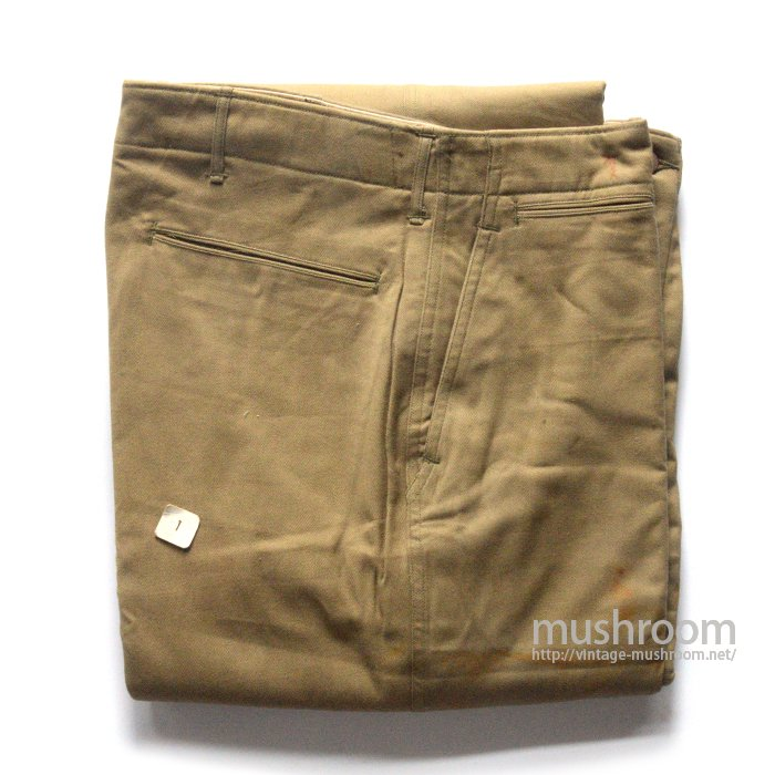 WW2 U.S.ARMY M-42 CHINO TROUSER( W32L32/DEADSTOCK )