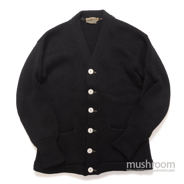 OLD BLACK PLAIN SHAKER CARDIGAN